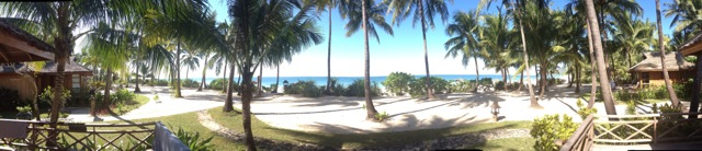 Aussicht vom Bungalow im Amara Ocean Resort, Nagpali Beach, Myanmar