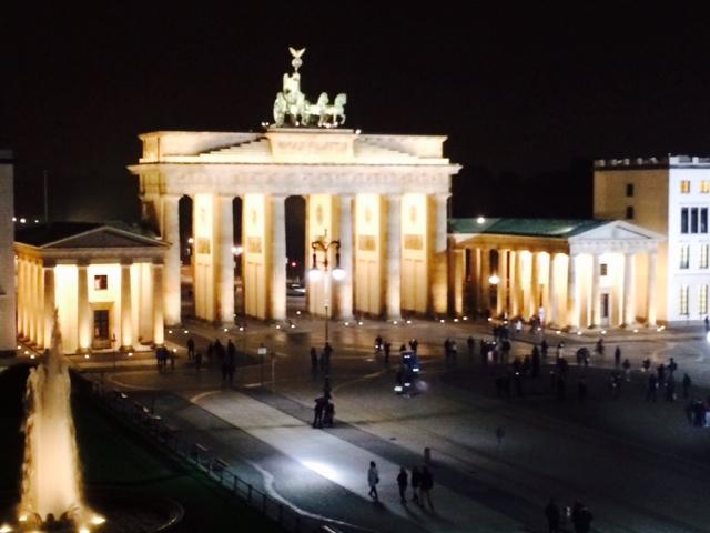 Blick von unserer Suite um Hotel Adlon in Berlin