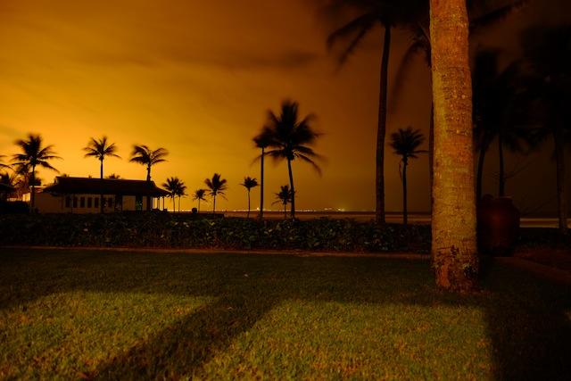 Dies Aussicht vor dem Bungalow im The Nam Hai Hotel, Vietnam