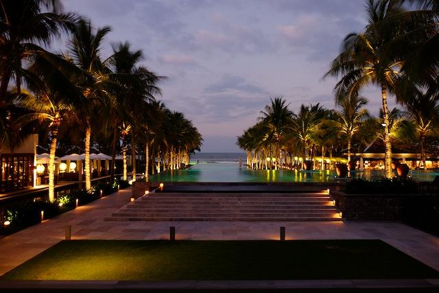 Die Aussicht vom Pool des Nam Hais, Vietnam