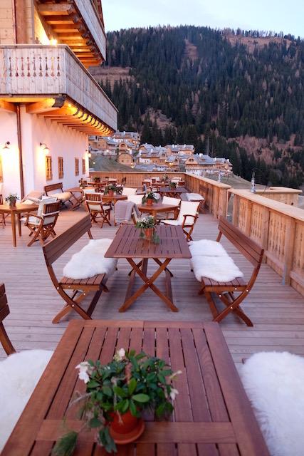 Die Terrasse des Gasthof Kleeangerle
